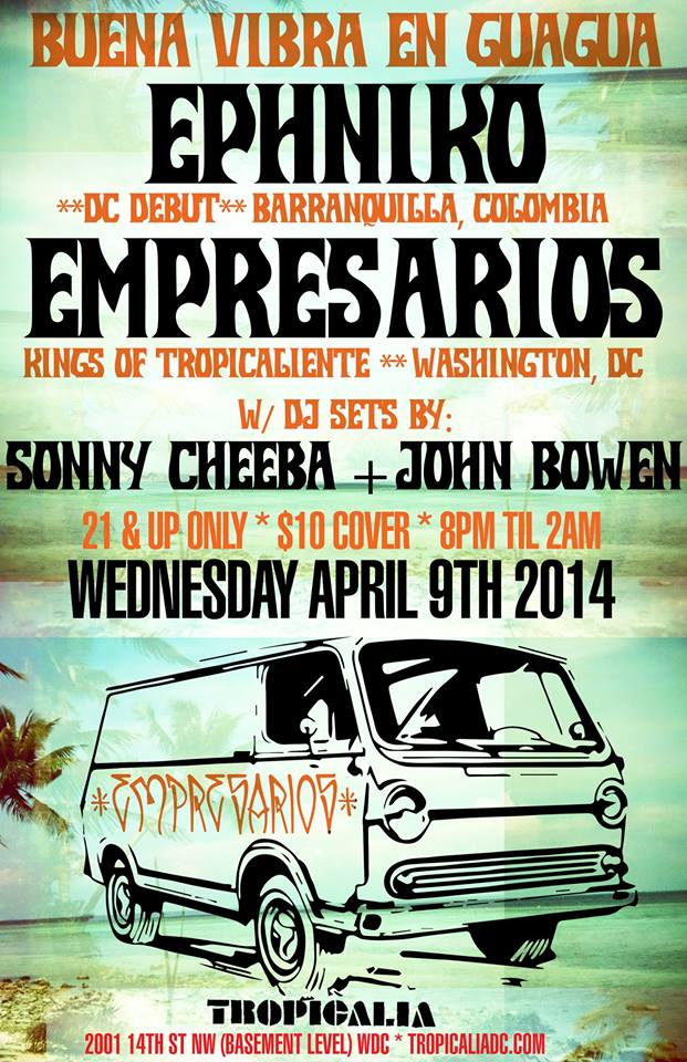 Ephniko and Empresarios At tropicalia Show Poster
