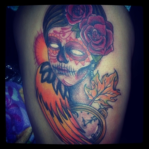 Catrina Day of the Dead Tattoo