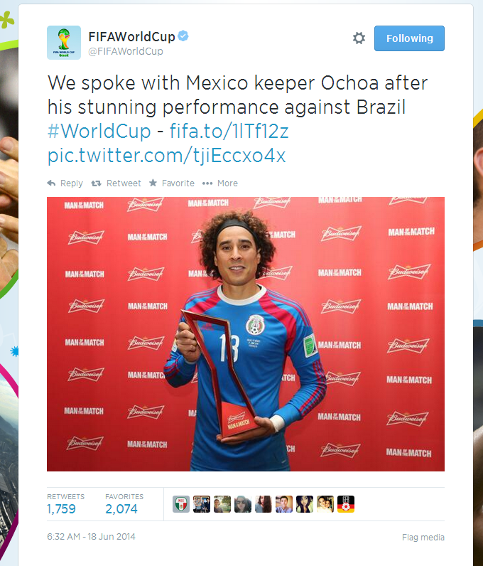 Man of the Match - Ochoa